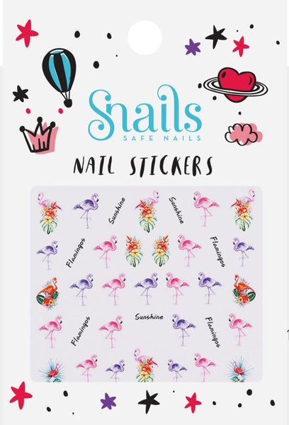 SNAILS NAIL STICKERS FLAMINGOS