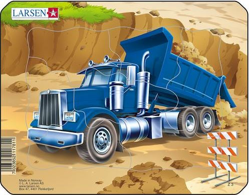 LARSEN CONSTRUCTION SMALL PUZZLE DUMP TRUCK