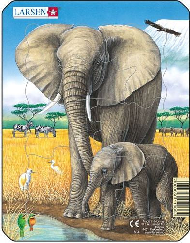 LARSEN WILD ANIMAL SMALL PUZZLE ELEPHANT