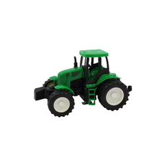 TEAM POWER 14CM FRICTION POWERED TRACTOR GREEN