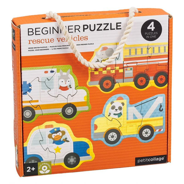 PETIT COLLAGE RESCUE VEHICLES BEGINNER PUZZLE