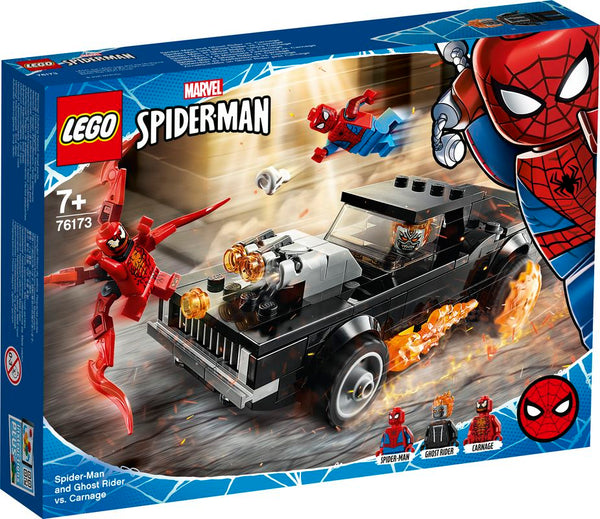 LEGO 76173 MARVEL SPIDERMAN SPIDERMAN AND GHOST RIDER VS CARNAGE