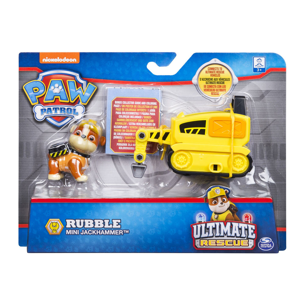 PAW PATROL ULTIMATE RESCUE MINI VEHICLE RUBBLE'S MINI JACKHAMMER