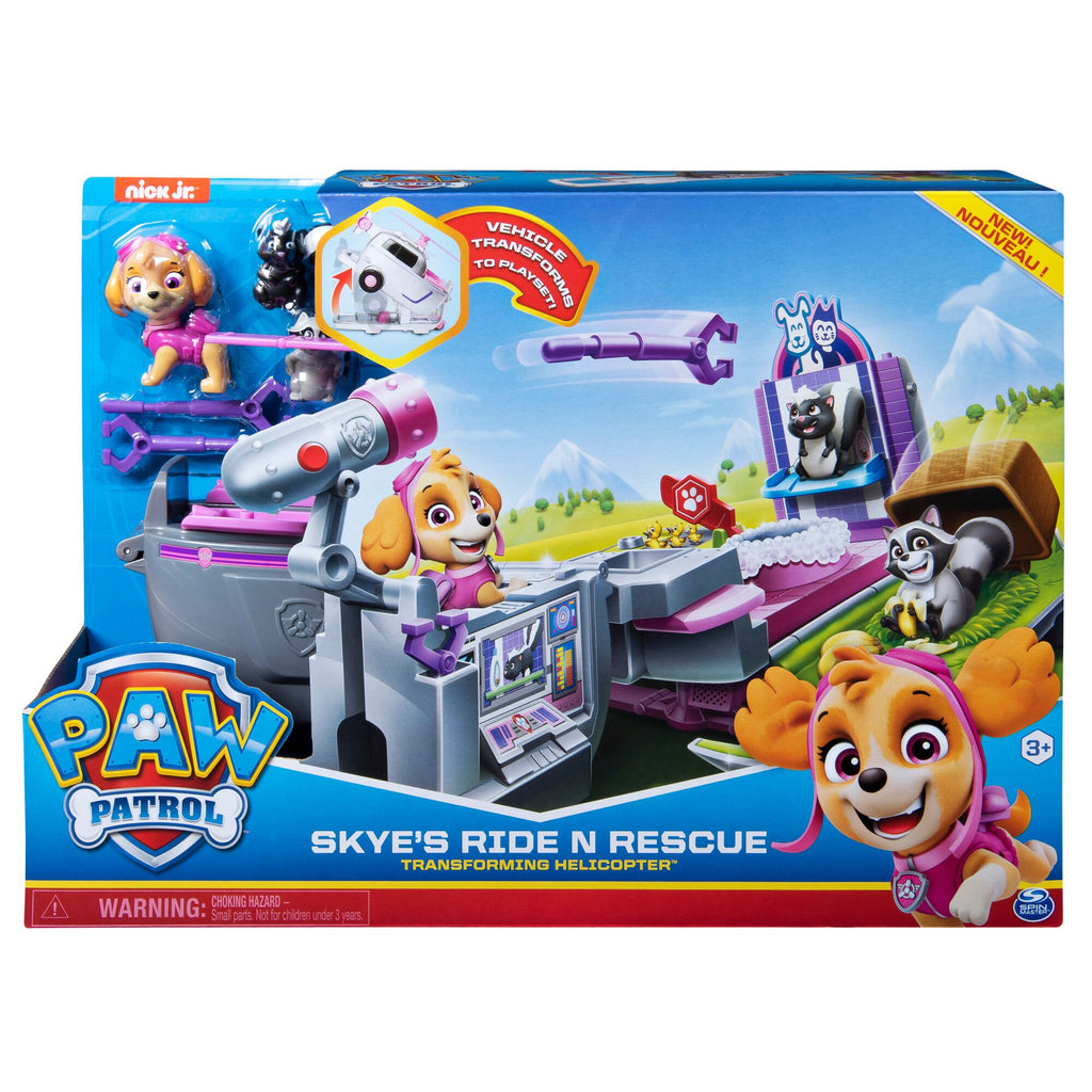 PAW PATROL ROLL N RESCUE VEHICLE SKYE'S RIDE N RESCUE TRANSFORMING HELICOPTER