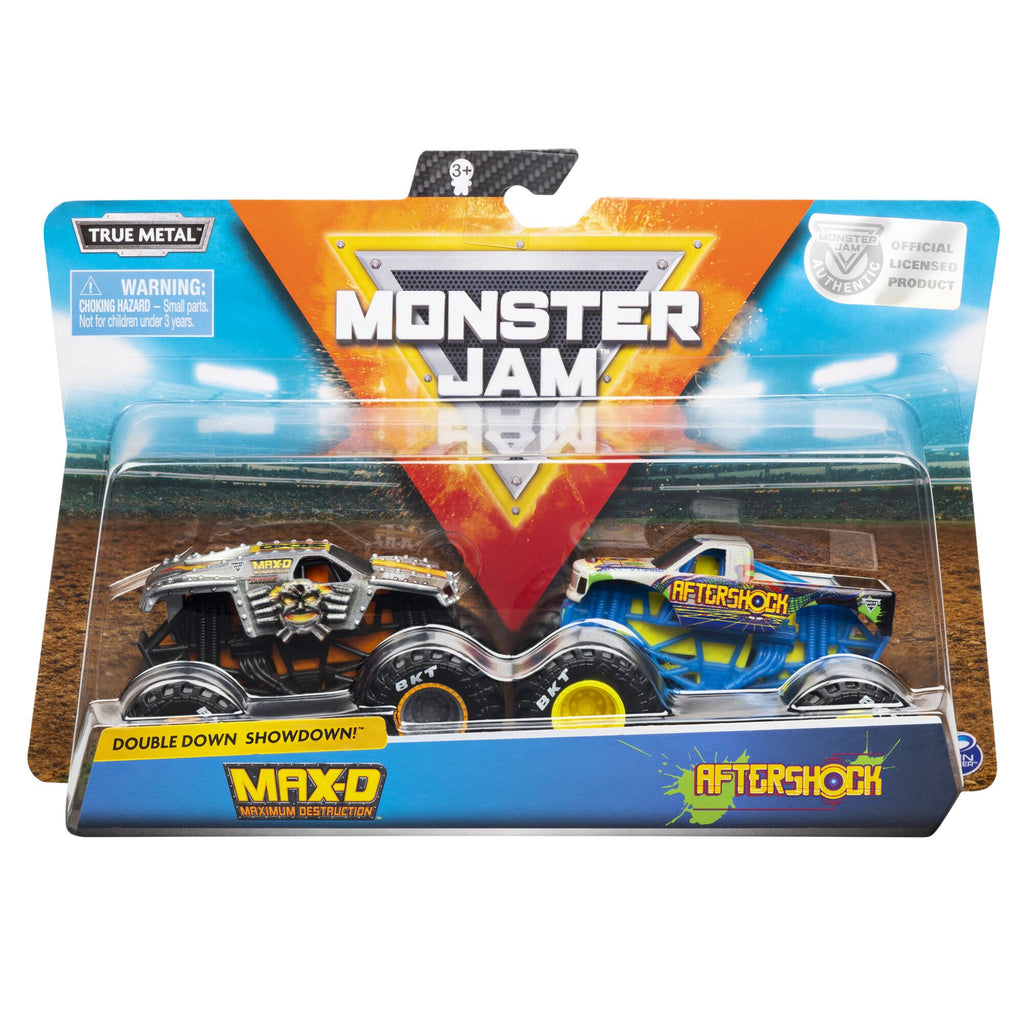 Monster Jam 2 Pack Max D & Aftershock - Toyworld