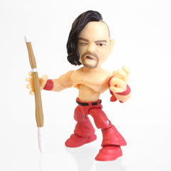"THE LOYAL SUBJECTS WWE 3"" ARTICULATED VINYL ACTION FIGURE SHINSUKE NAKAMURA RED PANTS"