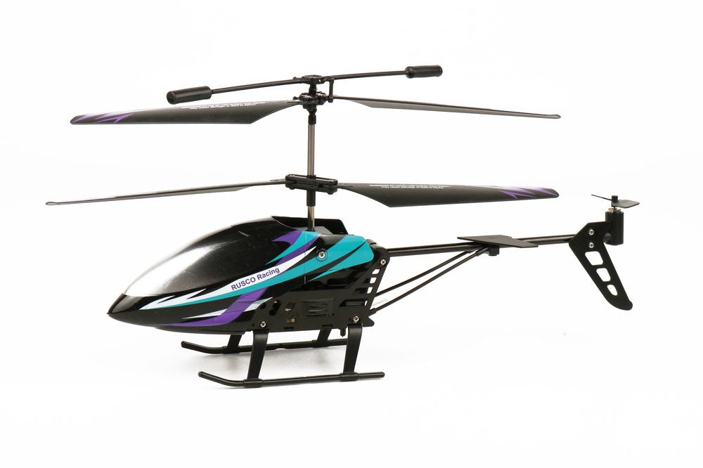 RUSCO RACING R/C 2.4 GHZ SKY HAWK HELICOPTER BLUE & PURPLE