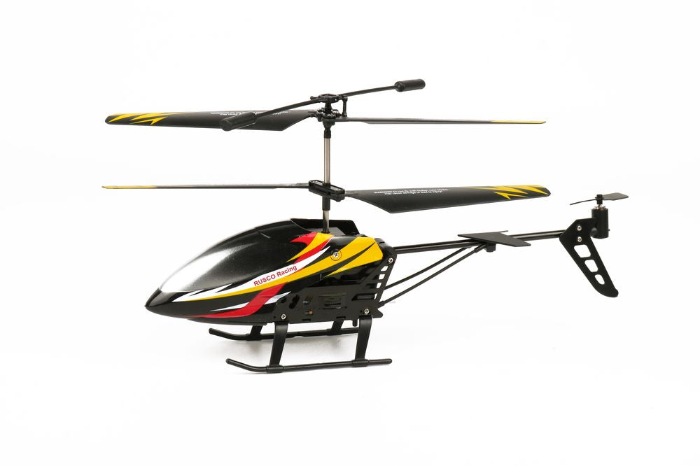 Rusco Racing R/cSky Hawk Helicopter Red & Yellow - Toyworld
