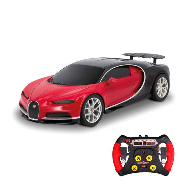 KIDZ TECH 1:43 REMOTE CONTROL BUGATTI CHIRON RED/BLACK