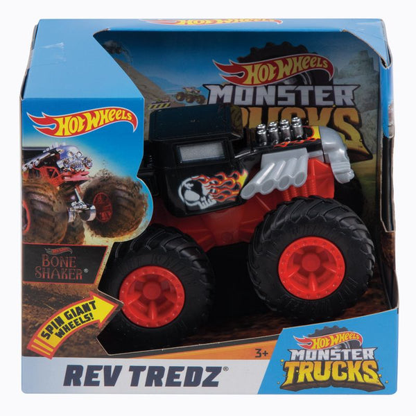 HOT WHEELS MONSTER TRUCKS REV TREDZ BONE SHAKER