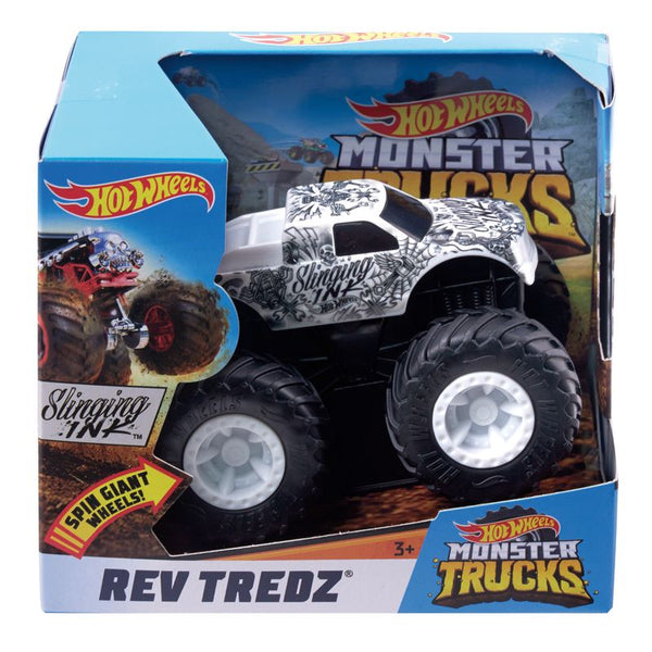 HOT WHEELS MONSTER TRUCKS REV TREDZ SLINGING INK