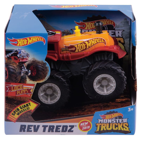 HOT WHEELS MONSTER TRUCKS REV TREDZ LOCO PUNK