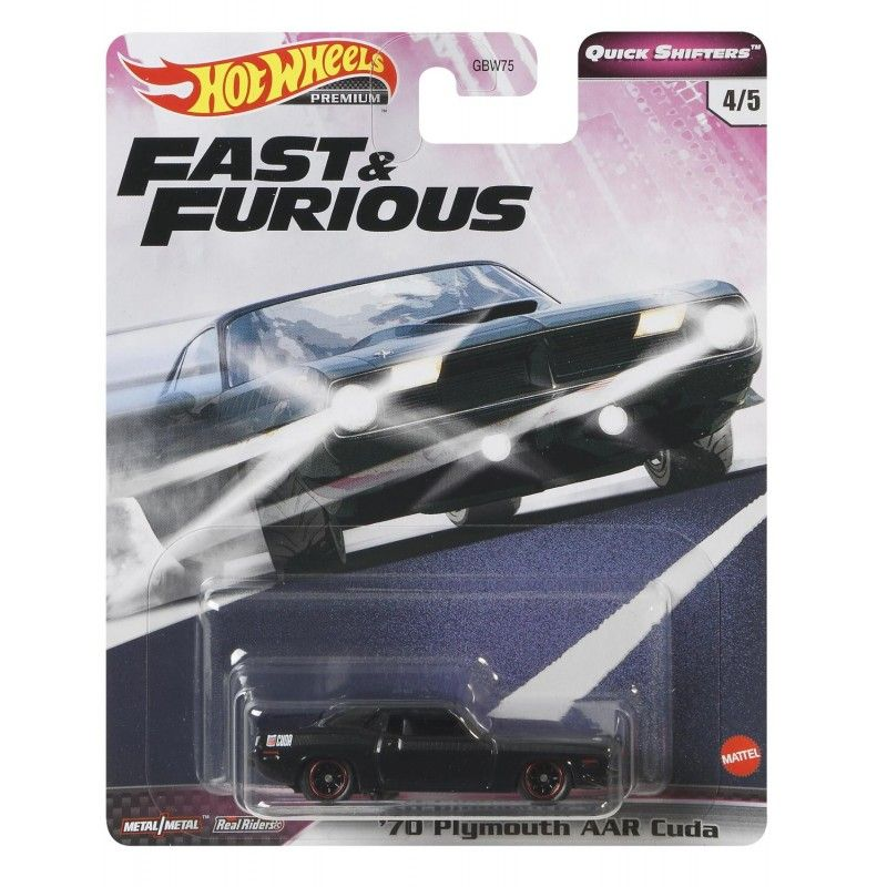 HOT WHEELS FAST & FURIOUS 4/5 '70 PLYMOUTH AAR CUDA