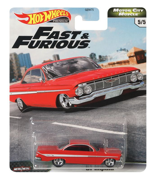 HOT WHEELS FAST & FURIOUS MOTOR CITY MUSCLE 5/5 '61 IMPALA