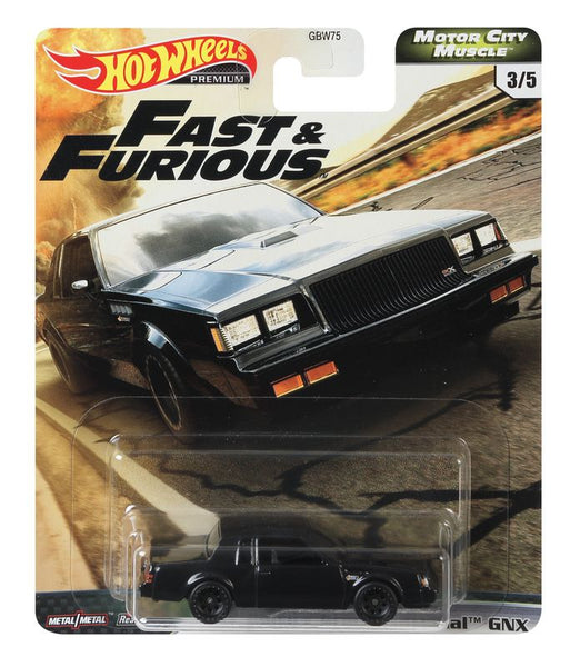 HOT WHEELS FAST & FURIOUS MOTOR CITY MUSCLE 3/5 '87 BUICK GRAND NATIONAL GNX