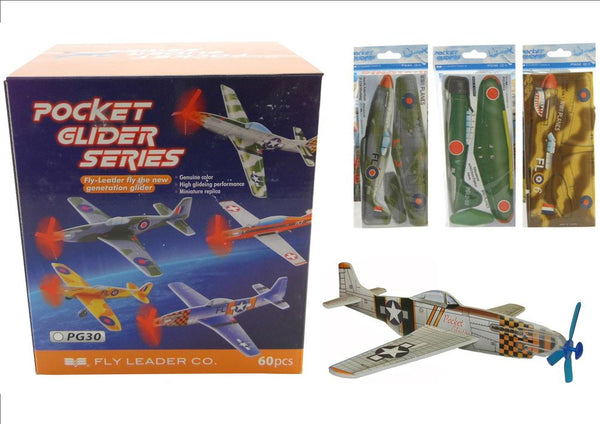 POCKET GLIDER FOAM PLANE ASSORTED STYLES