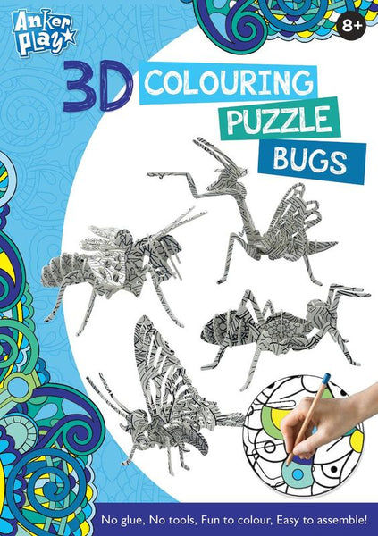 ANKER PLAY 3D COLOURING PUZZLE BUGS