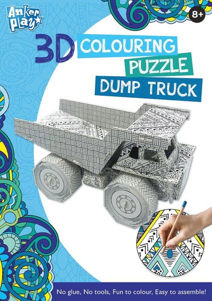 ANKER PLAY 3D COLOURING PUZZLE DUMP TRUCK