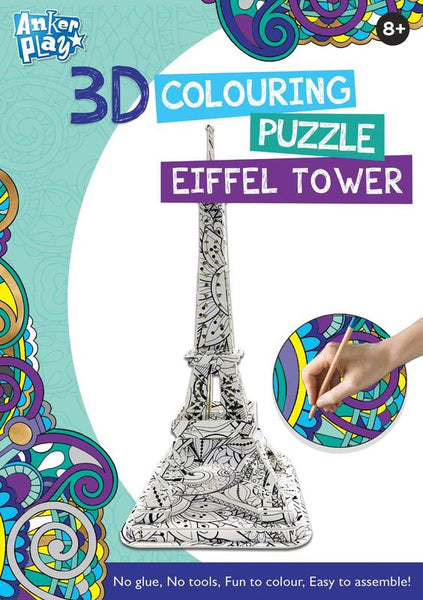 ANKER PLAY 3D COLOURING PUZZLE EIFFEL TOWER