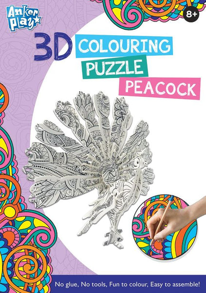 ANKER PLAY 3D COLOURING PUZZLE PEACOCK