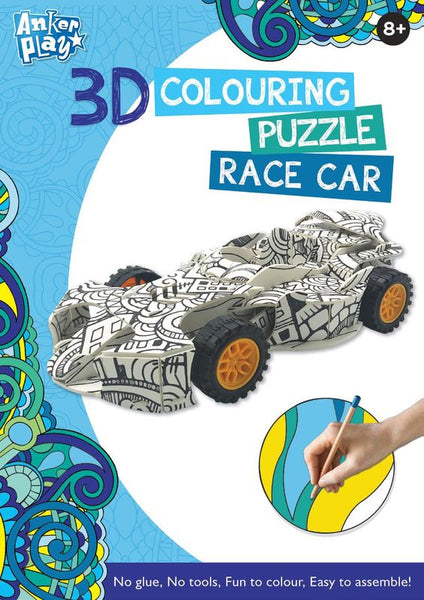 ANKER PLAY 3D COLOURING PUZZLE RACE CAR