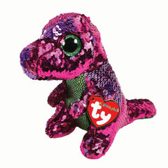 TY BEANIE BOOS FLIPPABLES STOMPY THE DINOSAUR MEDIUM - Toyworld NZ