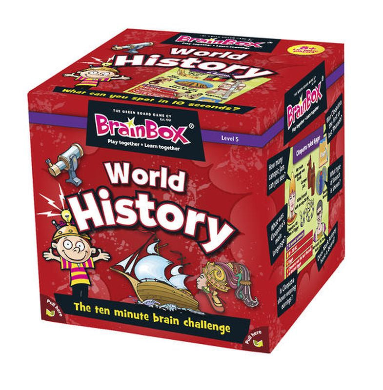 Brain Box World History Card Game - Toyworld