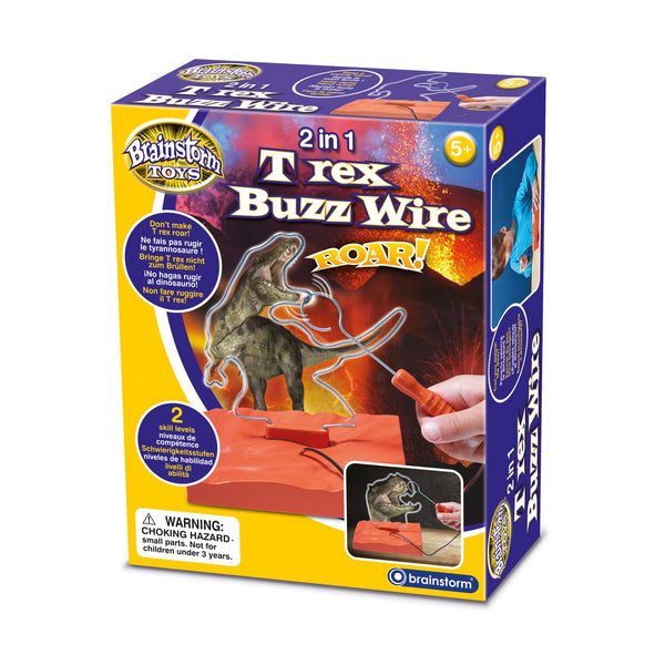 BRAINSTORM TOYS 2 IN 1 T-REX BUZZ WIRE GAME