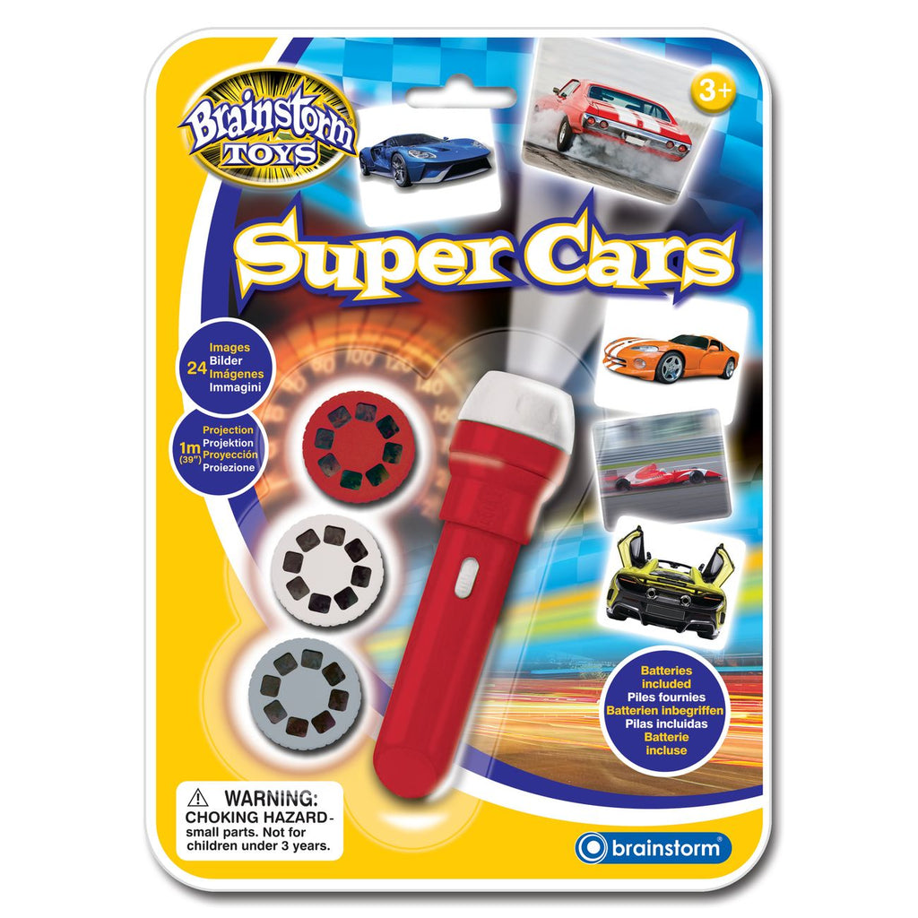 Brainstorm Toys Super Cars Torch & Projector - Toyworld