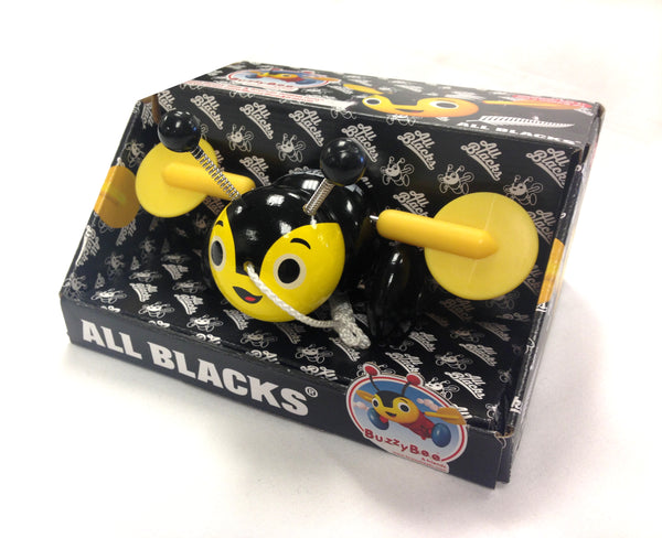 BUZZY BEE & FRIENDS ALL BLACKS BUZZY BEE LIMITED EDITION WOODEN PULL ALONG