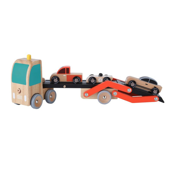 Classic World Wooden Car Transporter - Toyworld