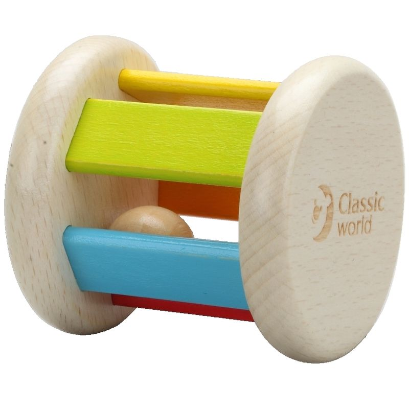 CLASSIC WORLD WOODEN ROLLER RATTLE