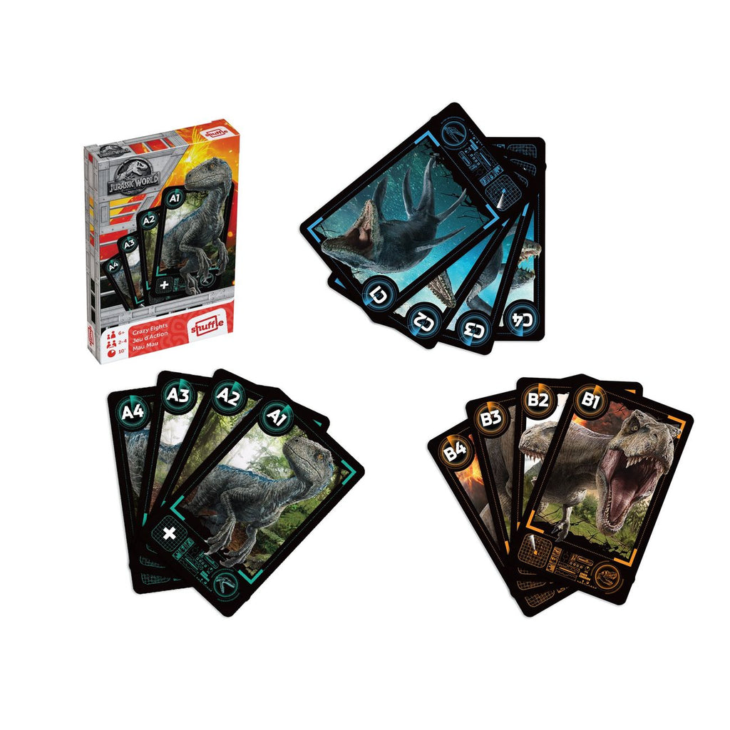 Cartamundi Jurassic World Crazy Eights Card Game - Toyworld