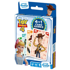 Cartamundi Shuffle 4in1 Card Games Disney Toy Story 4 - Toyworld