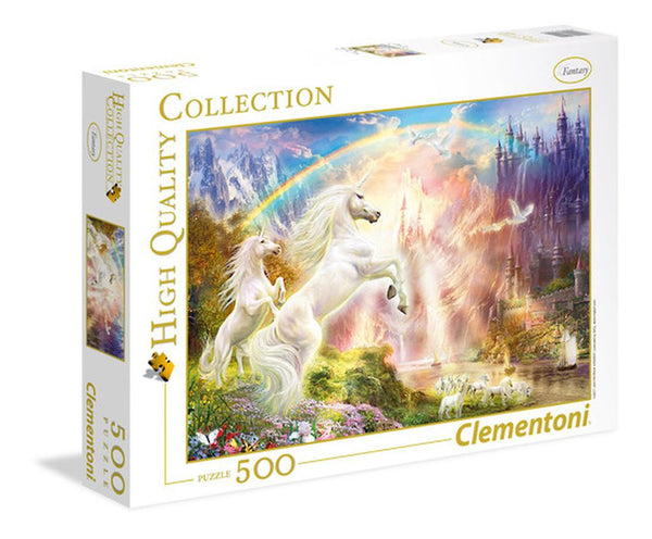 CLEMENTONI HIGH QUALITY COLLECTION 500 PIECE PUZZLE SUNSET UNICORNS