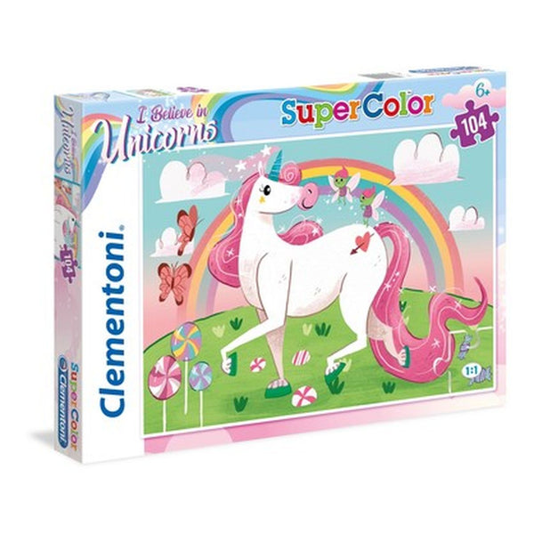 CLEMENTONI I BELIEVE IN UNICORNS 104 PIECE PUZZLE