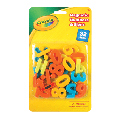 CRAYOLA 32PC MAGNETIC NUMBERS & SIGNS