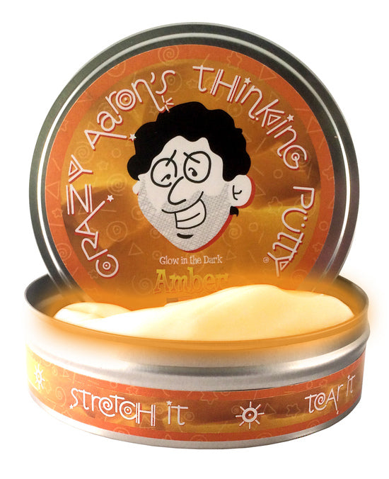 CRAZY AARON'S GLOW IN THE DARK AMBER PUTTY