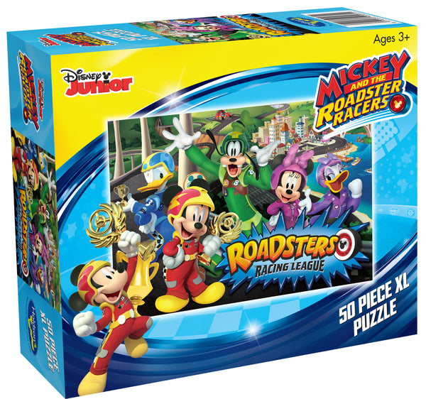DISNEY MICKEY MOUSE AND THE ROADSTER RACERS 50 PIECE XL PUZZLE ROADSTERS RACING LEAGUE