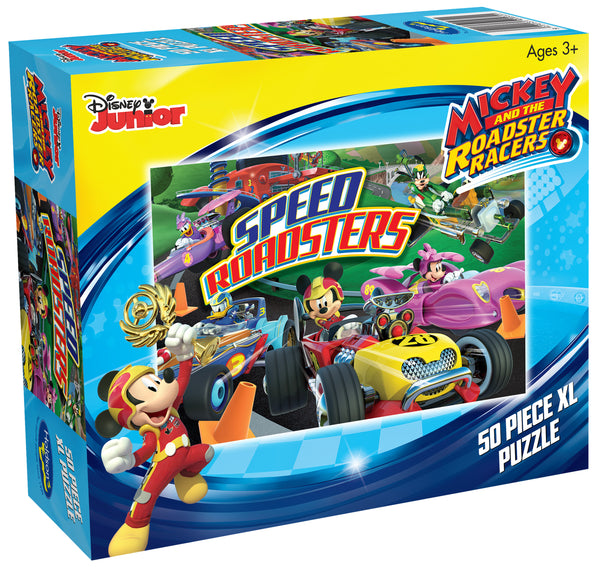 DISNEY MICKEY MOUSE AND THE ROADSTER RACERS 50 PIECE XL PUZZLE SPEED ROADSTERS