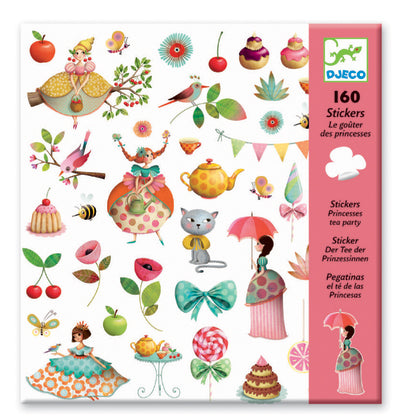 Djeco Stickers Princess Tea Party - Toyworld