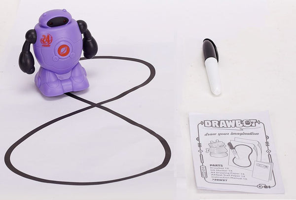 DRAWBOT ROBOT LEARN & CREATE PURPLE