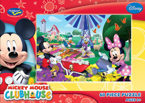 DISNEY MICKEY MOUSE CLUBHOUSE 60PC BOXED PUZZLE GREAT DAY FOR GROWING
