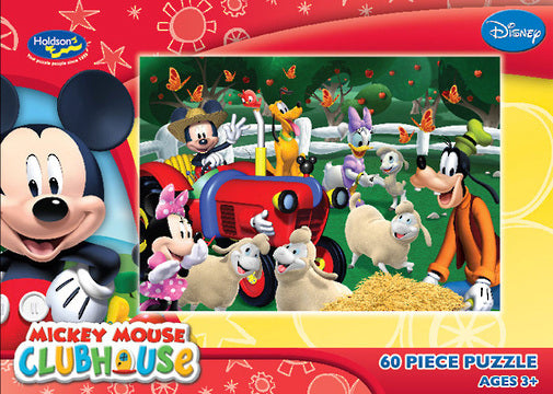 DISNEY MICKEY MOUSE CLUBHOUSE 60PC BOXED PUZZLE MICKEYS MOUSEKA TRACTOR
