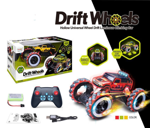 DRIFT WHEELS 1:12 RC DANCING ROCK CRAWLER WITH LIGHTS ASSORTED STYLES