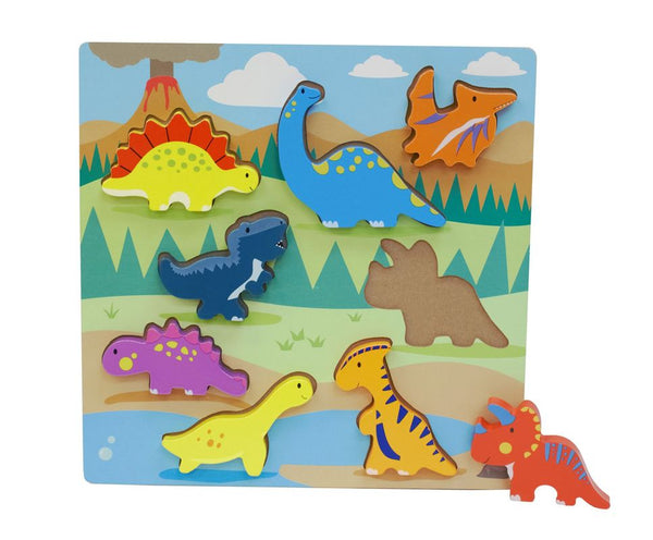 FIRST LEARNING WOODEN CHUNKY PUZZLE DINOSAURS