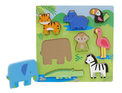 First Learning Wooden Chunky Puzzle Zoo Animals - Toyworld