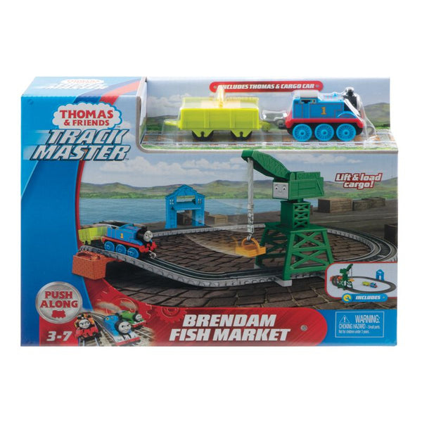 FISHER PRICE THOMAS & FRIENDS TRACKMASTER PUSH ALONG BRENDAM FISH MARKET SET
