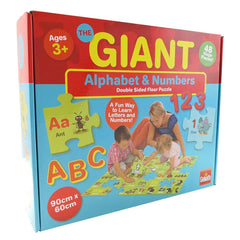 GIANT ALPHABET & NUMBERS DOUBLE SIDED FLOOR PUZZLE