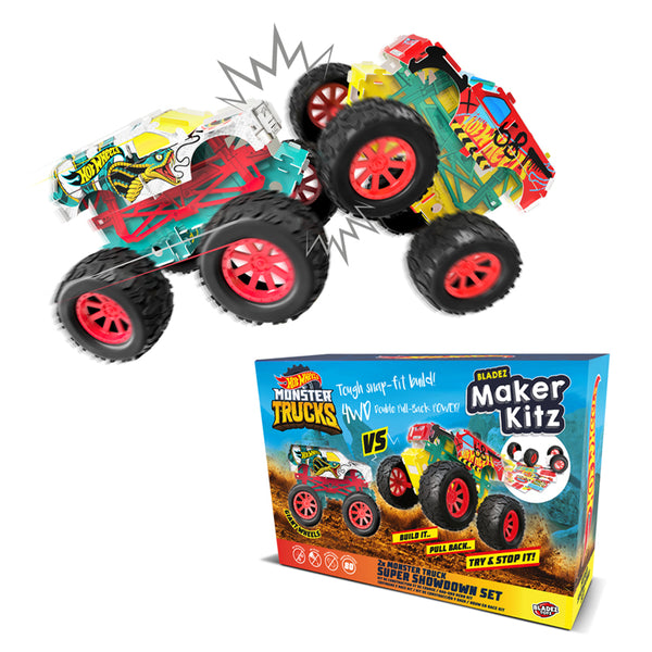 HOT WHEELS BLADEZ MAKER KITZ DIY PULL BACK POWER MONSTER TRUCK 4WD KIT ASSORTED STYLES